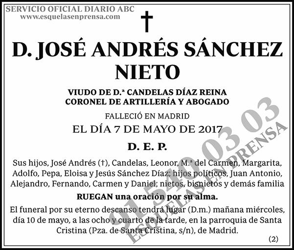 José Andrés Sánchez Nieto